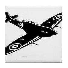 spitfire ww1 plane Tile Coaster