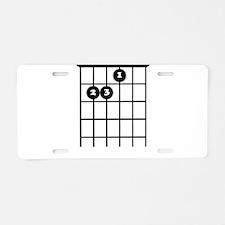 e chord guitar tab Aluminum License Plate