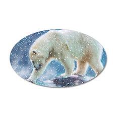 A polar bear at the water Wall Decal