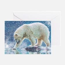 A polar bear at the water Greeting Cards
