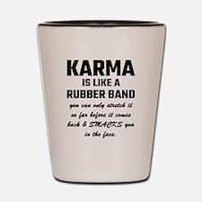 Cute Karma Shot Glass