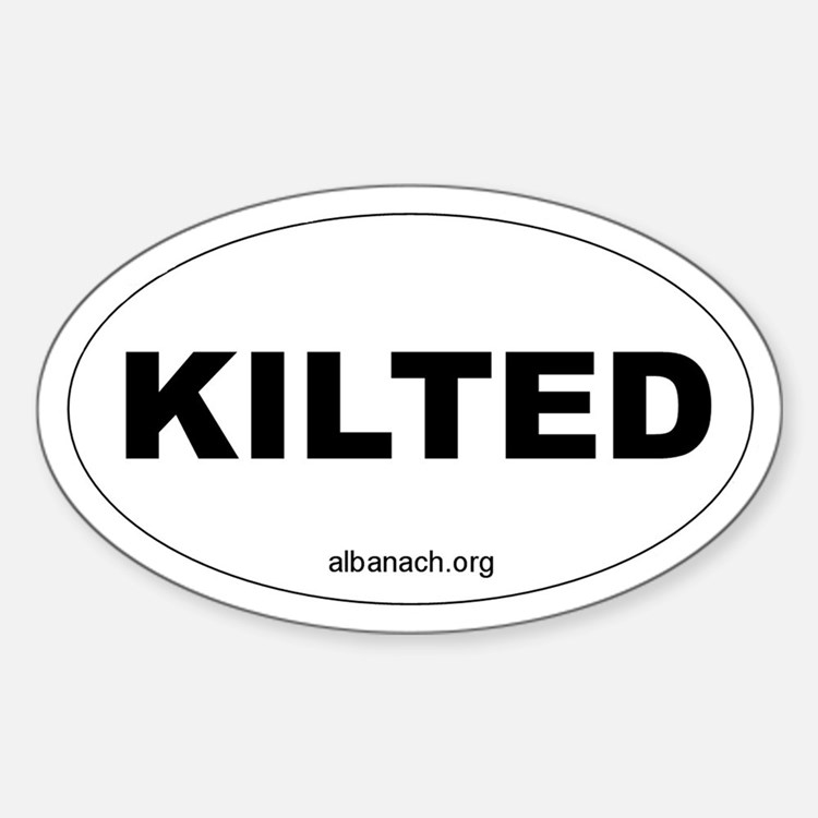 """""""Kilted"""" Oval Decal"""