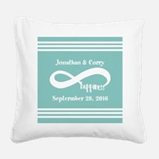 Custom Names Infinity Happine Square Canvas Pillow