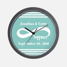Custom Names Infinity Happiness Wall Clock