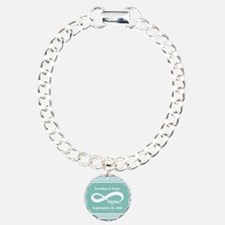 Custom Names Infinity Ha Charm Bracelet, One Charm
