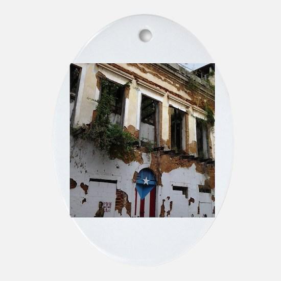 Cool Puerto rico el morro Oval Ornament