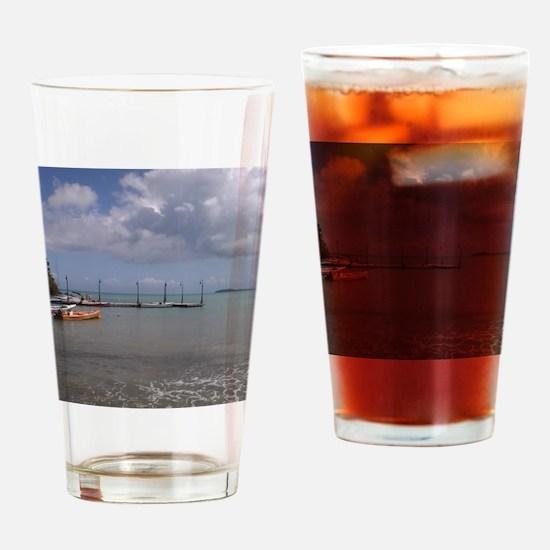 Puerto rico beach Drinking Glass