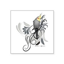 Gray Cockatiel Sticker