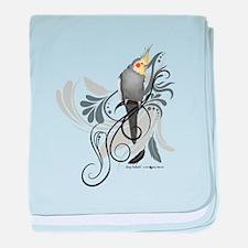 Gray Cockatiel baby blanket