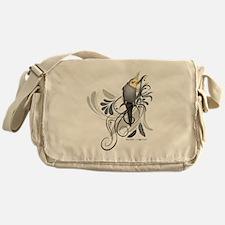 Gray Cockatiel Messenger Bag