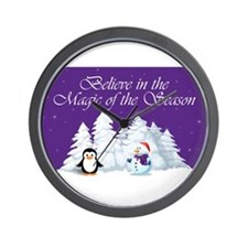 Magic of the Season Wall Clock