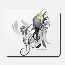 Gray Cockatiel Mousepad