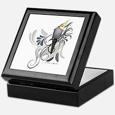 Gray Cockatiel Keepsake Box