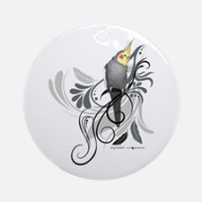 Gray Cockatiel Round Ornament