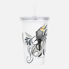 Gray Cockatiel Acrylic Double-wall Tumbler