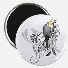 Gray Cockatiel Magnets