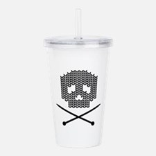 Knit Skull and Crossbones Acrylic Double-wall Tumb