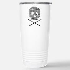 Knit Skull and Crossbones Travel Mug