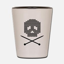Knit Skull and Crossbones Shot Glass