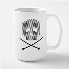 Knit Skull and Crossbones Mugs