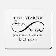 Custom Anniversary Years and Names Infin Mousepad