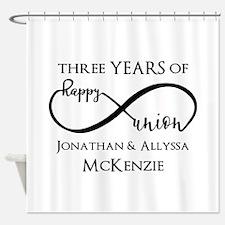 Custom Anniversary Years and Names Shower Curtain