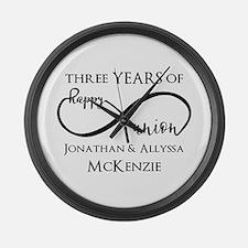 Custom Anniversary Years and Name Large Wall Clock