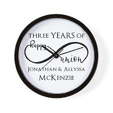 Custom Anniversary Years and Names Infi Wall Clock