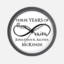 Custom Anniversary Years and Names Infi Wall Clock
