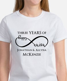 Custom Anniversary Years and Names Women's T-Shirt