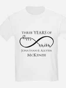 Custom Anniversary Years and Na T-Shirt