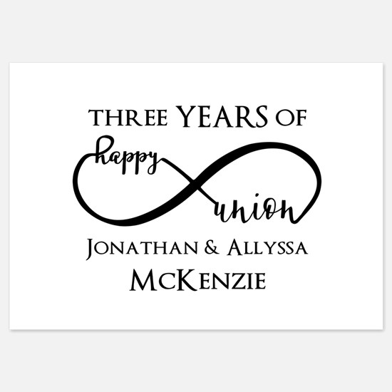 Custom Anniversary Years and Names 5x7 Flat Cards