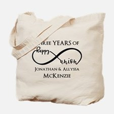Custom Anniversary Years and Names Infini Tote Bag