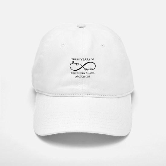 Custom Anniversary Years and Names Infinity Baseball Baseball Cap
