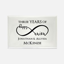 Custom Anniversary Years and Name Rectangle Magnet