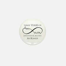 Custom Anniversary Years and Mini Button (10 pack)