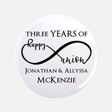 Custom Anniversary Years and Names Infinity Button