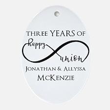 Custom Anniversary Years and Names I Oval Ornament