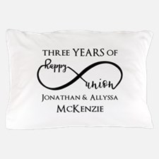Custom Anniversary Years and Names Inf Pillow Case
