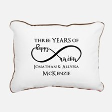 Custom Anniversary Years Rectangular Canvas Pillow