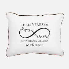 Custom Anniversary Years Rectangular Canvas Pillow