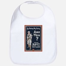 WWI USN Doing My Duty Navy Propaganda Bib