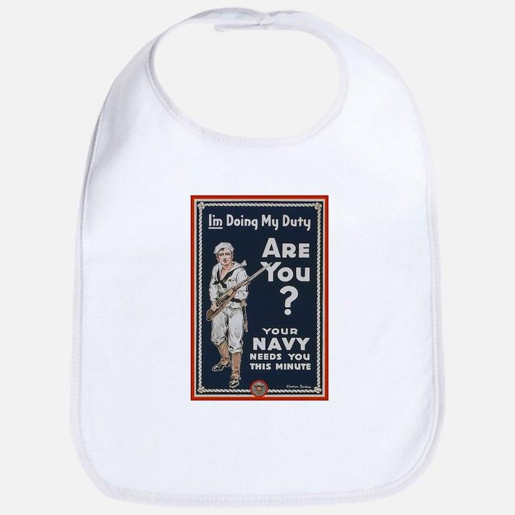 WWI USN Doing My Duty Navy Propaganda Bib
