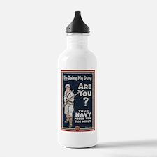 WWI USN Doing My Duty Water Bottle