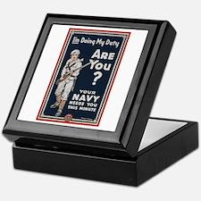 WWI USN Doing My Duty Navy Propaganda Keepsake Box