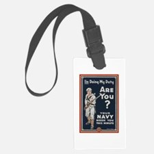 WWI USN Doing My Duty Navy Propa Luggage Tag