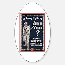 WWI USN Doing My Duty Navy Propagan Decal