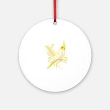 Lutino Cockatiel Round Ornament