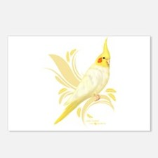 Lutino Cockatiel Postcards (Package of 8)