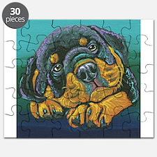 Rainbow Rottweiler Puppy Puzzle